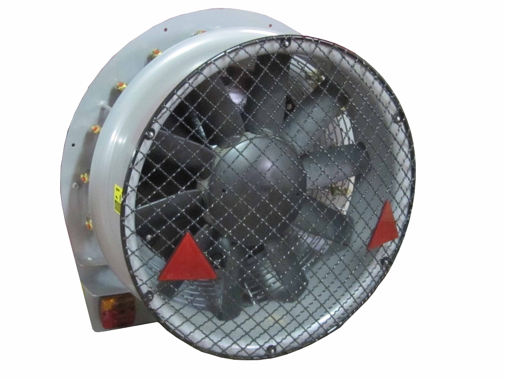 Axial fan unit for mounted, 10 blade