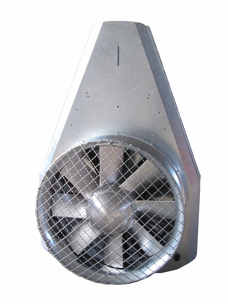 Rear tangential fan unit